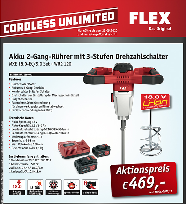 FLEX CORDLESS UNLIMITED