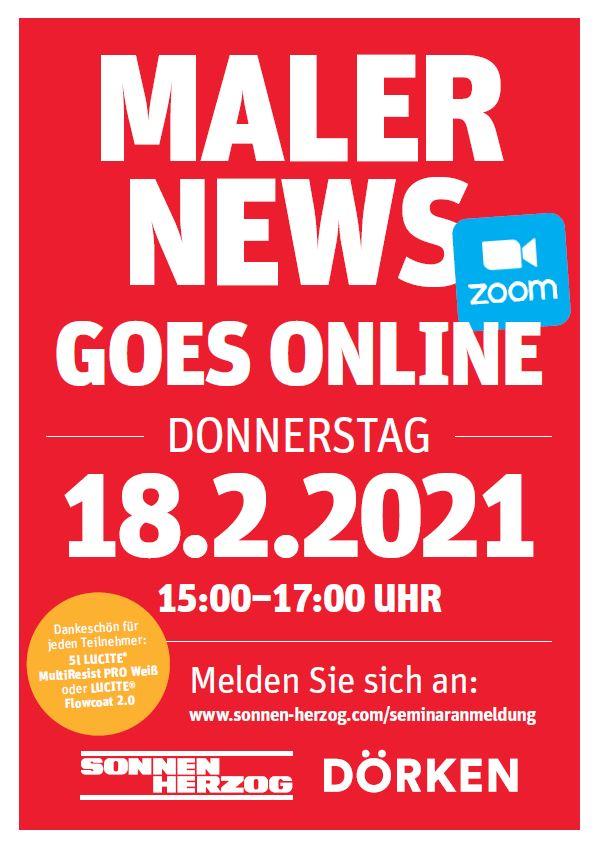 MalerNewsGoesOnline Flyer