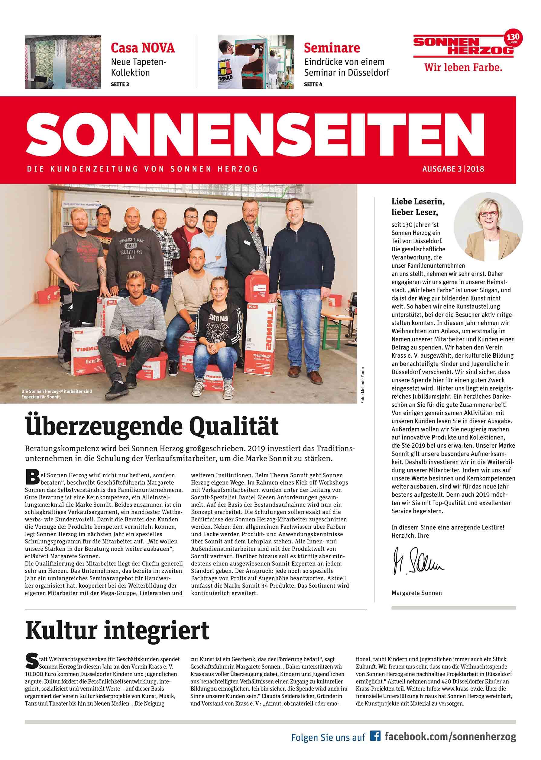 Die Kundenzeitung von Sonnen Herzog