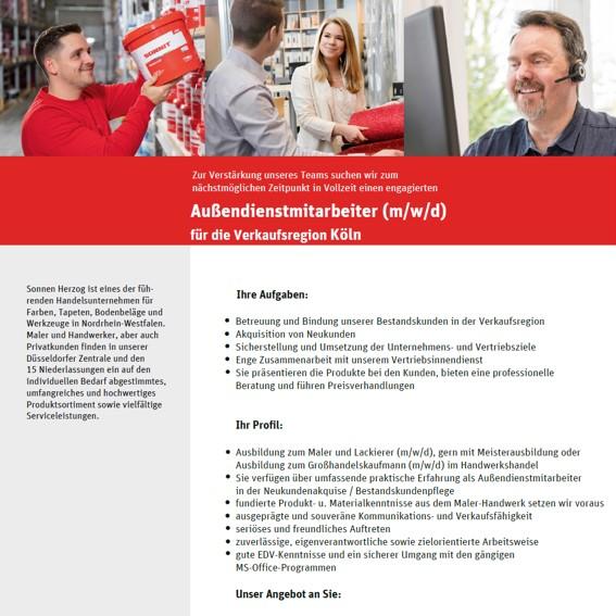 Stellenanzeige ADM Koeln 01 2021