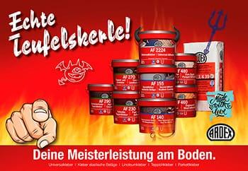"""Da steckt Power drin: Die """"Echte Teufelskerle""""-Kampagne von Ardex."""