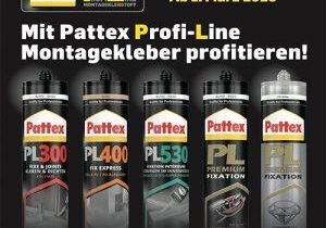 Mit Pattex Profi Line Montagekleber profitieren