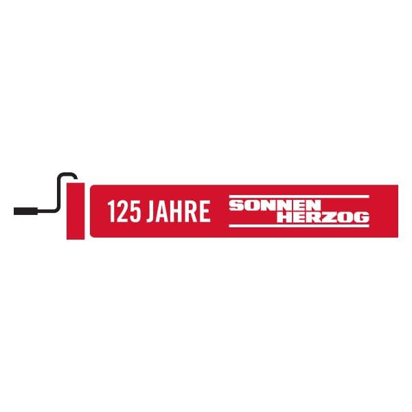 Jubilaeumsbanner fuer 125 jahre Sonnen Herzog