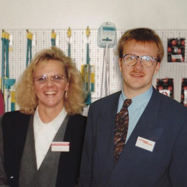 Margarete und Stephan Sonnen in 1990